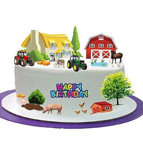 Fattoria Animali Happy Birthday Stand Up scena in carta di riso commestibile perfetto per decorare compleanno Cakes- facile da usare, http://www.amazon.it/dp/B0148VG58M/ref=cm_sw_r_pi_awdl_xs_xjlIyb6V5G48K