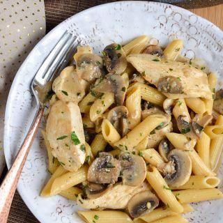 Syn Free Creamy Chicken and Mushroom Pasta