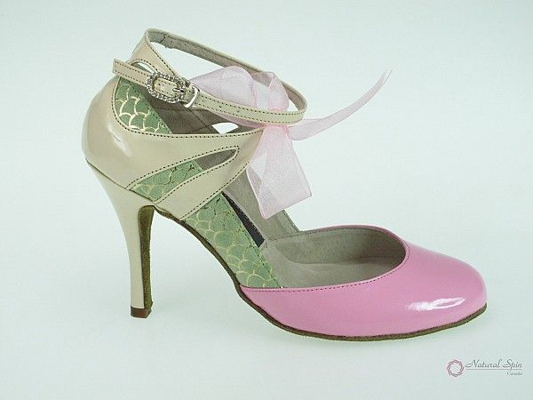 Natural Spin Designer Salsa ShoesTango ShoesFashion Shoes(Closed Toe):  D13147_P