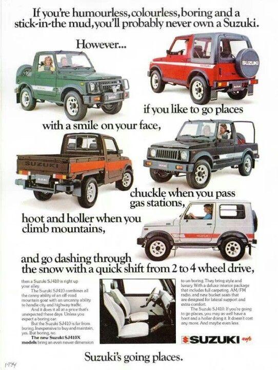 1984 Suzuki SJ410 Ad.