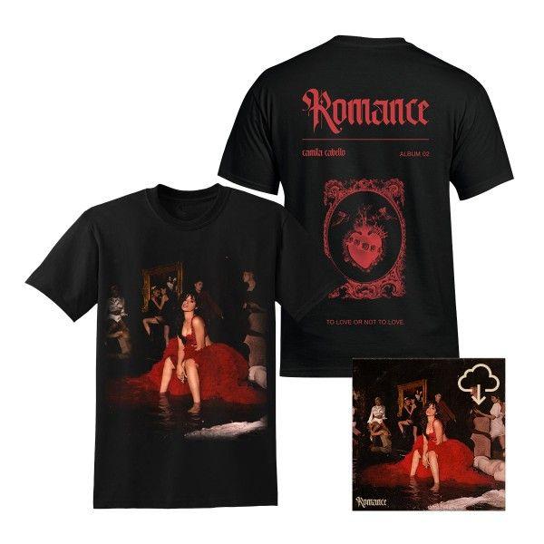 Romance Album T Shirt Digital Album Download Camila Cabello Romance Camila Cabello Shirts