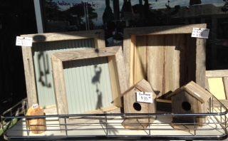 large shadow box-$35 small shadow box-$25 bird houses-$35