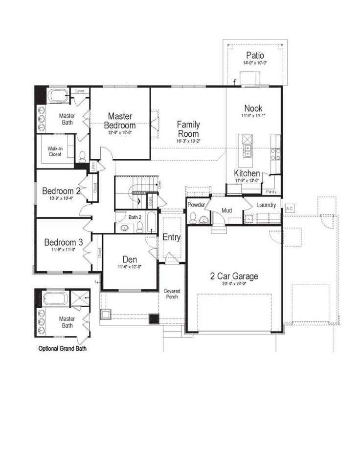 1000 Images About 3 Bedroom Rambler Plans On Pinterest