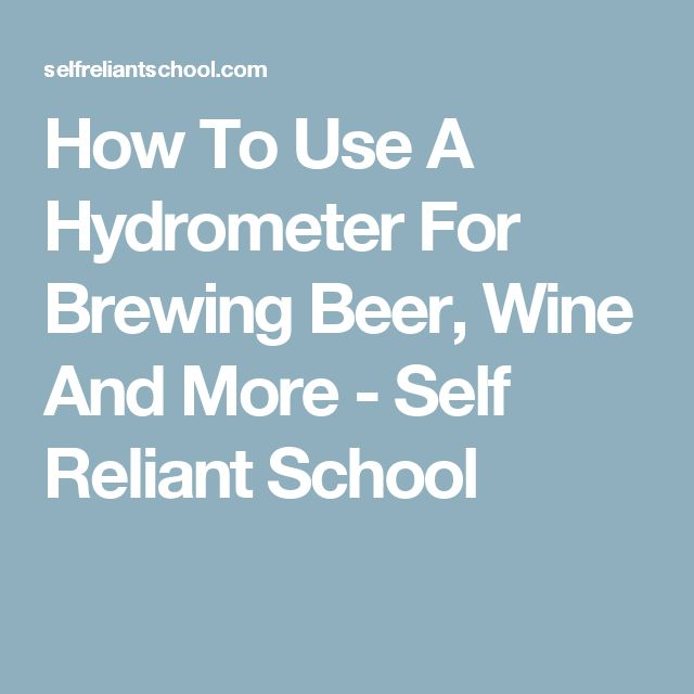 how to read alcohol hydrometer beer