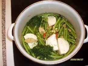Grüne Bohnen süß/ sauer eingelegt - Rezept
