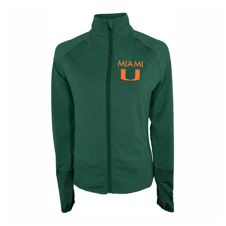 NCAA Miami Hurricanes Women's Windbreaker Jacket - XL, Multicolored