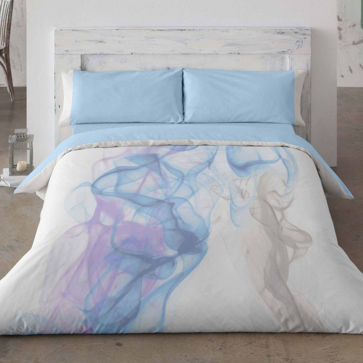 Duvet cover. Marble. Bedroom. Bed. Decor. Blue. Style.