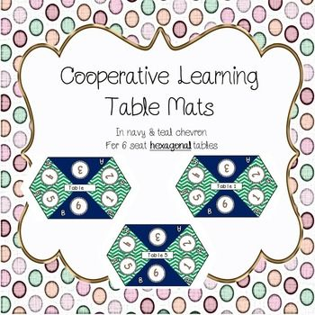 Table Mats for Cooperative Learning - hexagonal tables - s