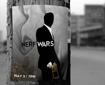 Nerf Wars Youth Group Event Poster