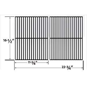 PORCELAIN STEEL REPLACEMENT COOKING GRID FOR KENMORE 141.155400, 141.155401, 141.156400, 141.157900, 141.157901, 141.157902 AND ELLIPSE 2000LP, 2000NG, 2001LP, 2001NG, 2100, 2101, 2102, 2103, 2104, 2105 GAS GRILL MODELS, SET OF 2