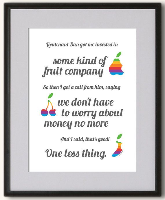 Forrest Gump quote Apple