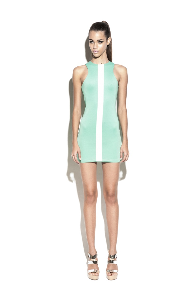 Nookie Track Star Body Con Dress- Apple