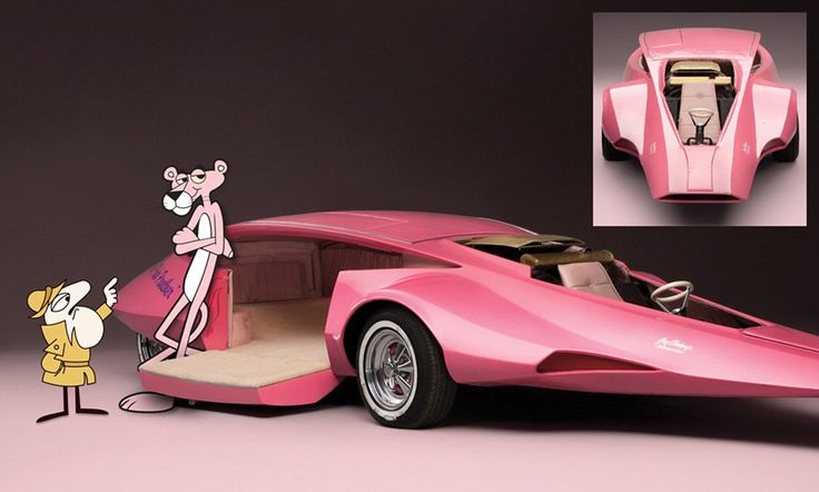 Fancy a ride on the bright side? Unique Pink Panther car set to be sold for £100,000