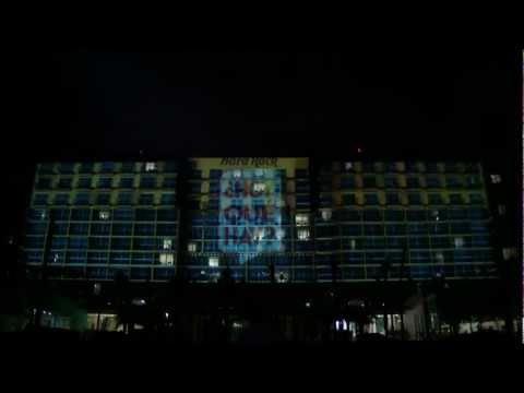 Año : 2012  Cliente: Cinemax  Cliente: Olecom  Marca: Cinemax  Evento: Nueva programación  Tag: Mapping  Sede: Cancún Quintana Roo , Hard Rock Hotel