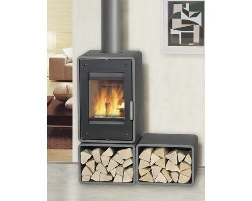 Kaminofen Fireplace Petra Stahl grau mit Frontverglasung 5 kW kaufen bei HORNBACH.ch