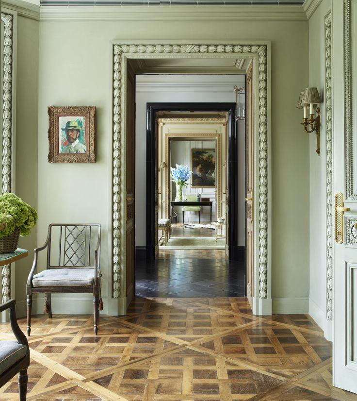 Phillimore Gardens Mansion House - Reclaimed Parquet Flooring, Custom Architrave