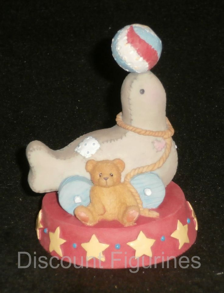 Cherished Teddies Enesco Circus Seal Of Friendship Enesco Figurine #137596 NEW