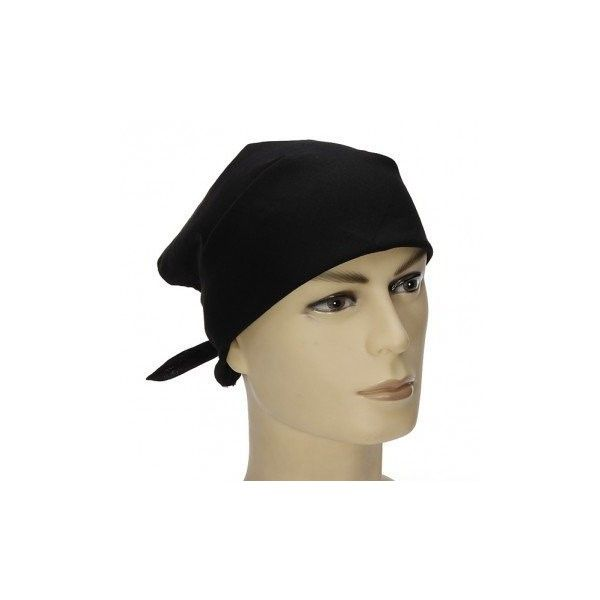 Plain Bandana Head Wear Headband Cotton Scarf Football Dance Headband (250 INR) ❤ liked on Polyvore featuring accessories, black, hats & caps, cotton handkerchiefs and cotton bandana