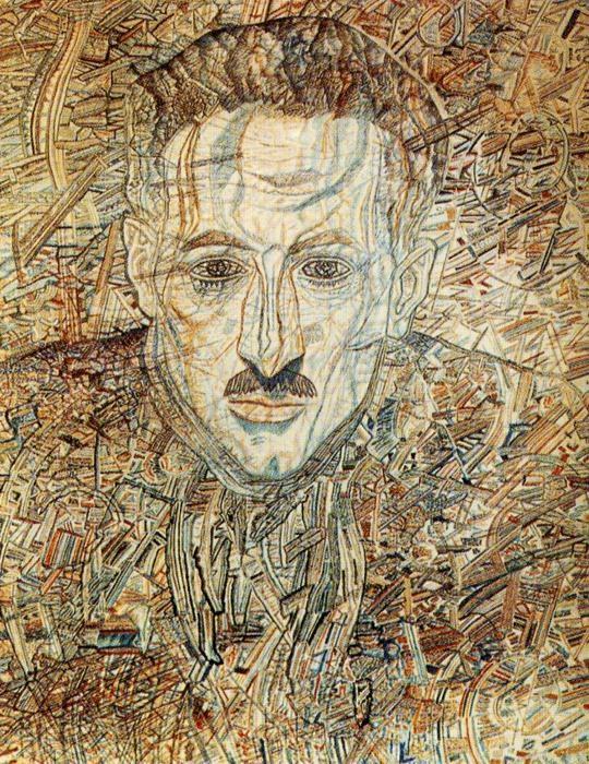 Pavel Filonov - Portrait of Nikolay Glebov-Putilovsky, 1935-1936 watercolor