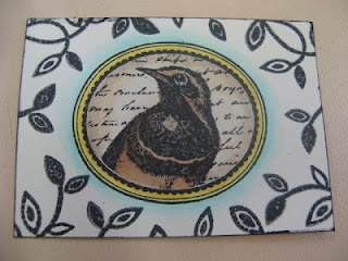 A little ATC featuring Bunky the Art Sparrow!