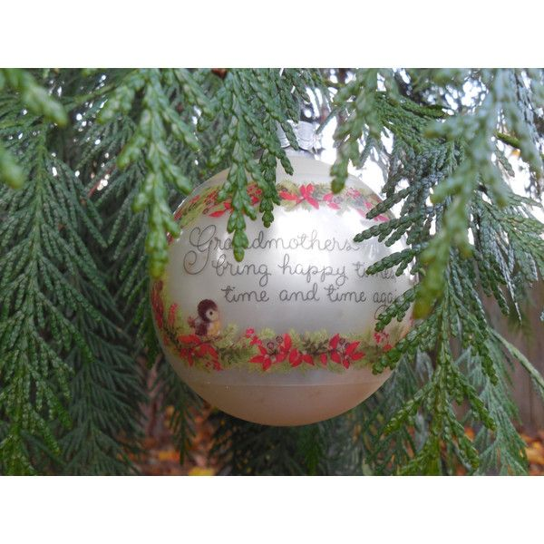Hallmark Tree Trimmer Collection 1979 Grandmother Ornament ($29) ❤ liked on Polyvore featuring home, home decor and holiday decorations