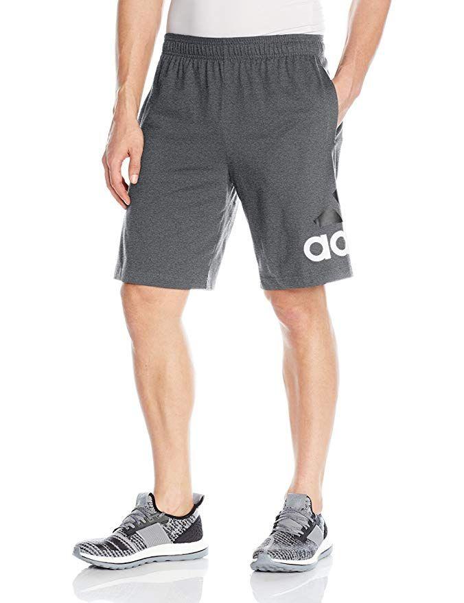 adidas Men's Athletics Jersey Shorts, Dark Grey Heather, Medium ...