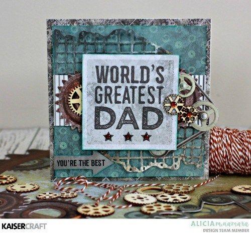 Kaisercraft Factory 42 Father's Day Cards by Alicia McNamara
