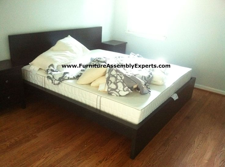 ikea malm king size bed assembled in silver spring md for