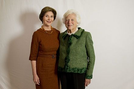 "Laura Bush likes P0TS & PANS with Barbara ""Barb Wire"" Bush"