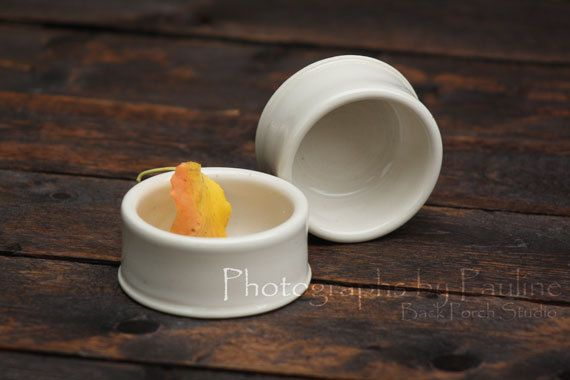 Small Ivory Kitchen Prep Catchall Crock by BackPorchStudio on Etsy, $10.00