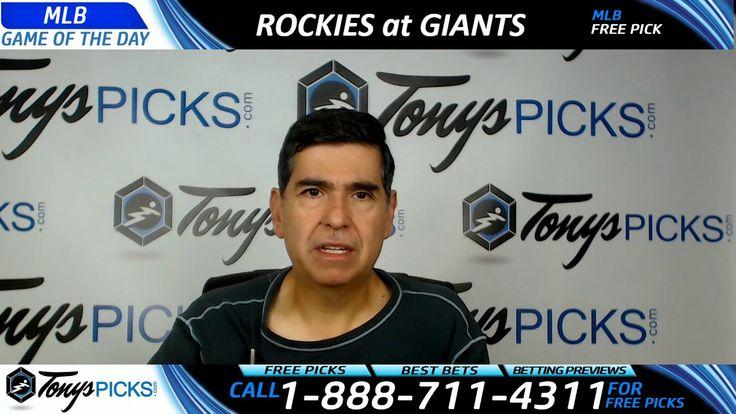 Colorado Rockies vs. San Francisco Giants Free MLB Baseball Picks and Pr...