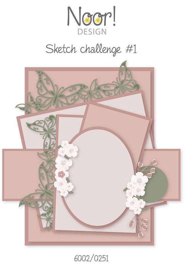 Hallo Noor vriendinnen, We hebben weer wat leuks bedacht voor jullie namelijk en maandelijkse Sketch Challenge. Vanaf nu zal ik iedere maand voor jullie een sketch tekenen waarbij we in jullie kaarten