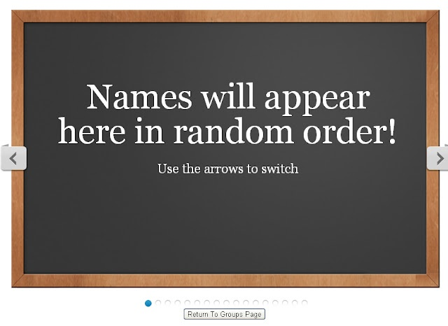 The Random Name Generator will randomly draw a name from your class. The choice are random and will never come up in the same order twice!