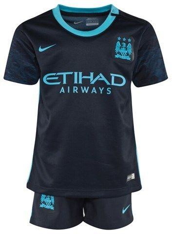 Manchester City FC Official 2015/16 Away Infant Kit