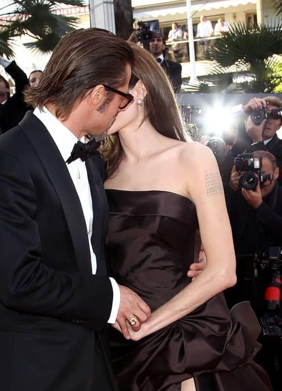 Erwischt Promis Beim Kussen Promis Brad Pitt Angelina Jolie
