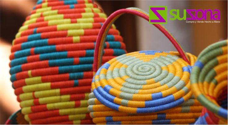 La tradicional técnica utilizada en la elaboración de #artesanías en fique en Guacamayas se denomina cestería en espiral.