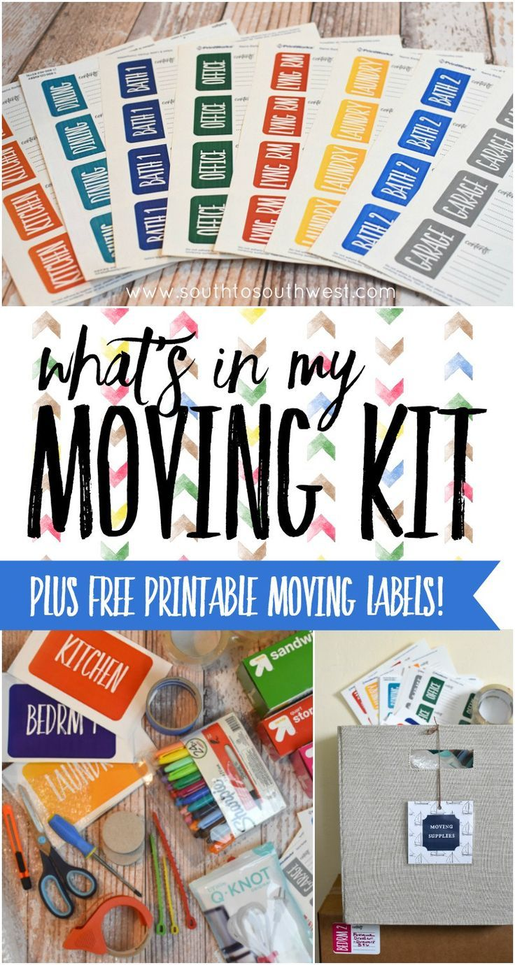 Getting ready for a move? Check out some packing tips, see what's in my moving kit, and download some free printable color-coded moving box labels!