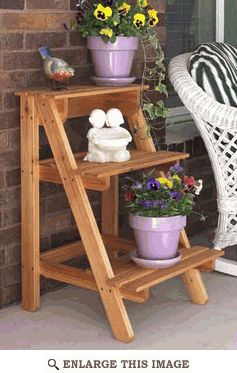 Garden Plant Stand Woodworking Plan, Outdoor Patio Furniture Project Plan   WOOD Store