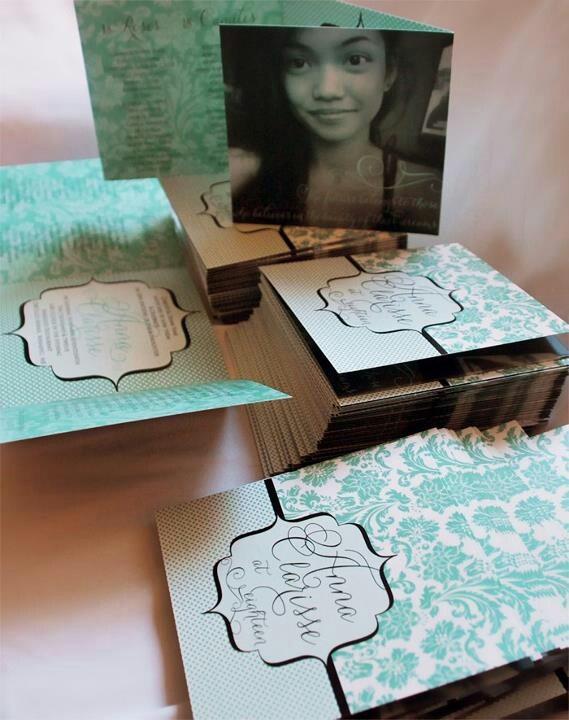 Tiffany blue invitation for debut birthday