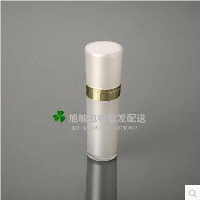Фк 30 мл груша белая акриловая конус-формы - насос бутылка лосьона, Нажмите насос, Косметической упаковки