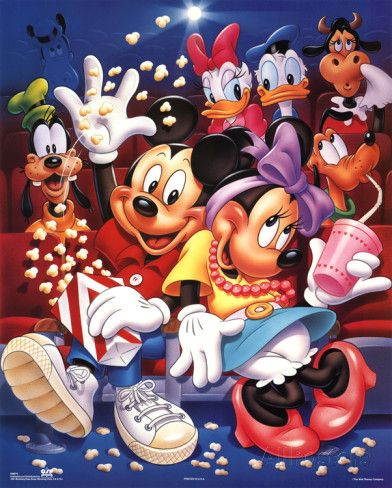Mickey Mouse and Friends At the Movies Poster