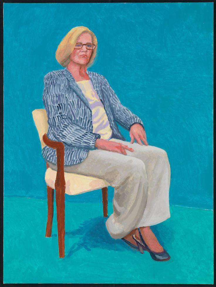 Dagny Corcoran by David Hockney, 15-17 January 2014, acrylic on canvas. 121.92 x 91.44 cm.