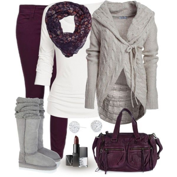 cute outfits | Cute Winter Outfits 2012 | Purple | Fashionista Trends. Love that sweater!!!