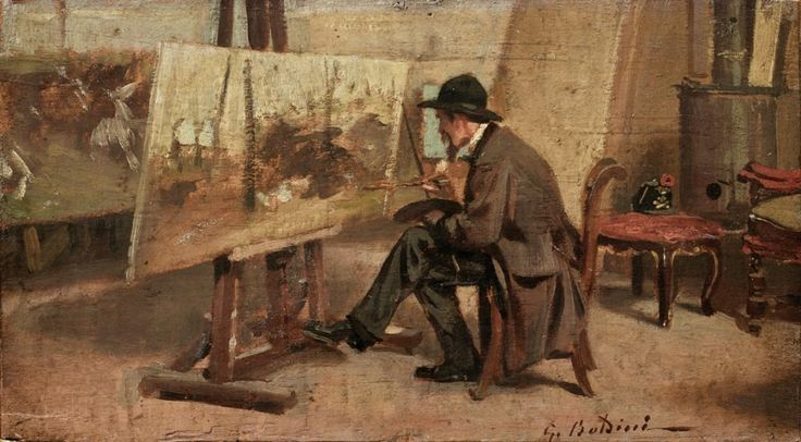Ο Giovanni Fattori στο στούντιο του (1865-67)