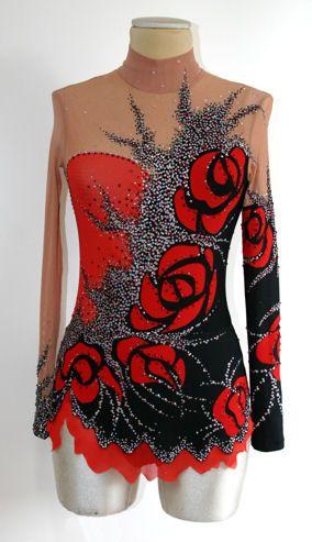 Red rose rhythmic gymnastics bodysuit!