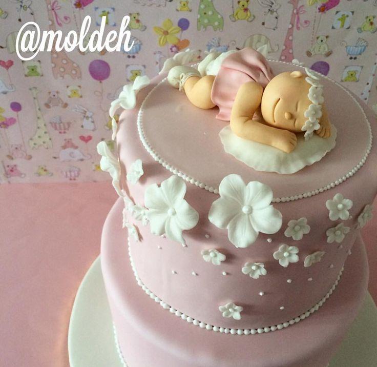 Pastel para bautizo de bebé niña // Babygirl baptism cake