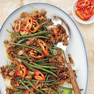 Pork-and-Green Bean Stir-Fry | The key to this dish is developing a ...