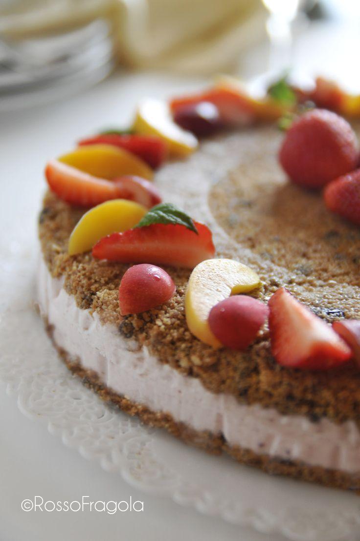 La cheese cake alla frutta che si crede una torta gelato - Rosso Fragola