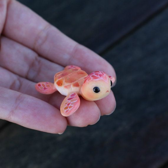 Baby Turtle Figure by TheLittleMew on Etsy