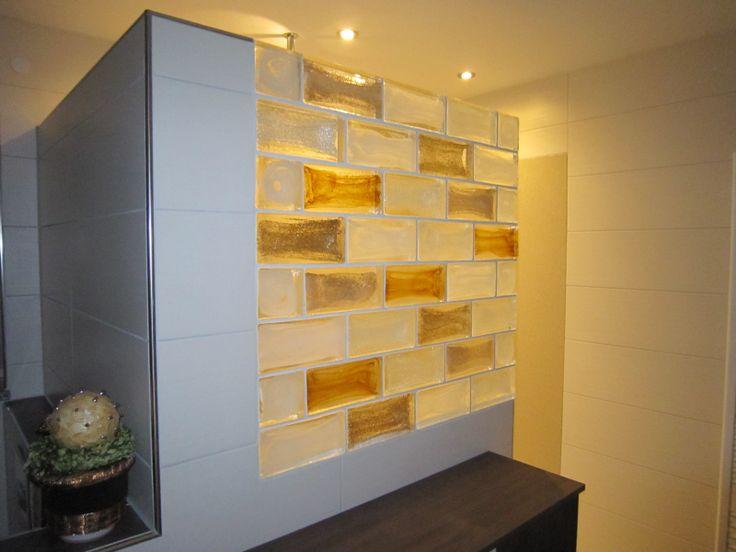 Glasbausteine duschwand  Glasbausteine Duschwand Bauen: Bad og ist fertig gefliest einfach ...
